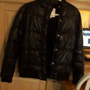 JUSTICE BLACK PUFFER COAT GIRLS 14 WORN ONCE